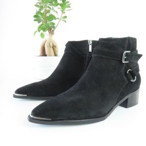 Marc Fisher LTD Yatina Suede Ankle Bootie in Black
